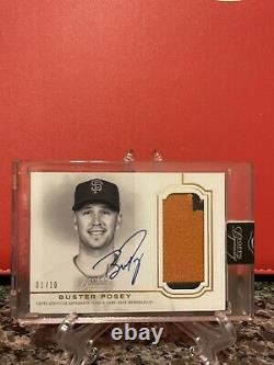 2020 Topps Dynasty BUSTER POSEY Game Used Patch On Card Auto /10