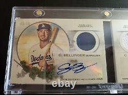 2021 Allen & Ginter CODY BELLINGER/COREY SEAGER Dual Game Used AUTO Book/10