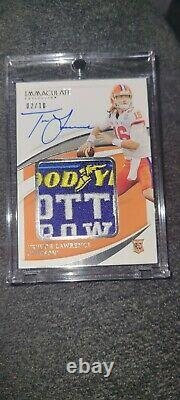 2021 Immaculate Trevor Lawrence Rookie Patch Auto /10 Cotton Bowl Game-used MVP