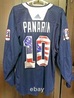 ARTEMI PANARIN Worn New York Rangers AUTOGRAPHED & PRE GAME USED JERSEY 1/1