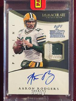 Aaron Rodgers 2015 Panini Immaculate Collection Game Used Patch Auto True 1/1