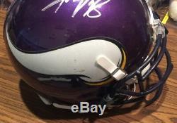 Adrian Peterson Autographed Signed 2013 Game Used Vikings Helmet