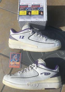 Air Jordan 2 Low Mike Bibby Sample Size 12 BOTH SIGNED JSA COA GAME WORN RARE
