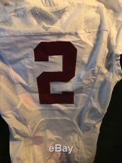 Alabama heisman winner derrick henry signed game used tide jersey beckett c. O. A