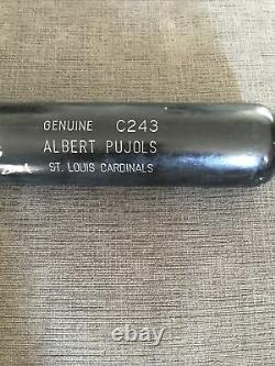 Albert Pujols H&B Game Used Bat 2002 Auto Signed Rookie Cardinals INSCRIBED PFF