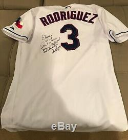 Alex Rodriguez Game Used Worn Jersey Texas Rangers 2003 Signed & Inscribed
