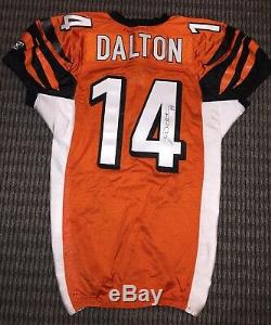 Andy Dalton Cincinnati Bengals Game Used Worn Rookie Jersey Photo Match Signed