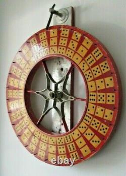 Antique Carnival 2 SIDED Wheel Wooden Dice Board Game AAFA