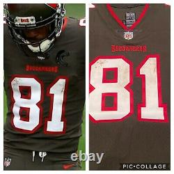 Antonio Brown Auto Game Used Tampa Bay 2 Td Jersey Signed Coa Photo Proof Match