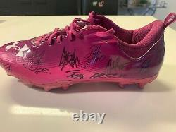 Arizona Cardinals Signed Autograph Game Used Cleats Larry Fitzgerald Auto