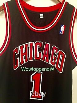 Autographed Auto Derrick Rose Game Worn/Used Home Black Chicago Bulls Jersey COA