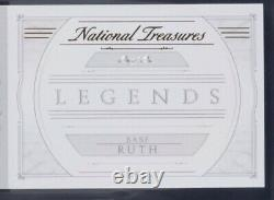 BABE RUTH CUT AUTO 1/1 Grade 9 Game Used Pinstripe Patch 2015 National Treasures