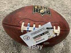BEN ROETHLISBERGER Pittsburgh Steelers Game Used SIGNED Football 10-2-16 With COA