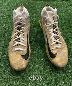 Ben Roethlisberger Pittsburgh Steelers Game Used Cleats 2016 Signed Ben LOA