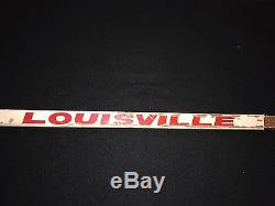 Bob Probert Signed Detroit Red Wings Game Used Louisville Tps Stick Jsa Loa
