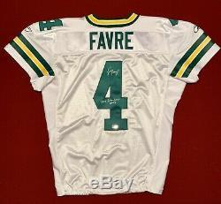 Brett Favre Game Used Worn Signed Packers NFL Football Jersey GF LOA HOF SB XXXI