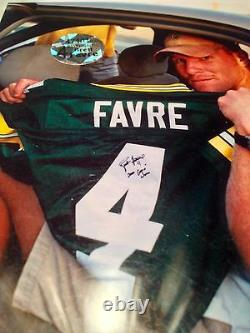 Brett Favre Game Worn Used Signed Packers NFL Football Jersey BF LOA HOF SB XXXI