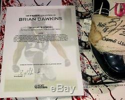 Brian Dawkins Autographed Game Used Worn Cleats LOA Philadelphia Eagles Broncos