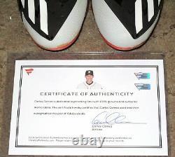Carlos Correa 2016 Game Used Autographed Signed Adidas Baseball Cleats Fanatics