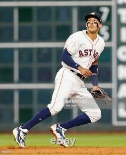 Carlos Correa Game Used & Autographed Adidas Cleats 2017 Astros Fanatics COA GU
