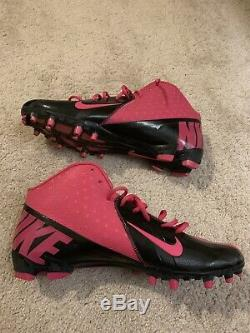 Carolina Panthers Luke Kuechly Rookie Game Used Pink Cleats Signed NFL Autograph