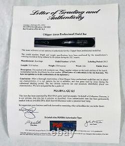 Chipper Jones Signed Game Used Bat PSA/DNA Graded 8.5 GU and PSA ITP Autograph