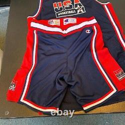 Christian Laettner Game Used Signed 1992 Olympics Team USA Uniform Jersey JSA