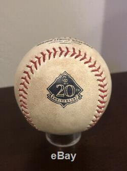 Christian Yelich MLB Debut 7/23/13 Game Used Baseball MVP COA Not Signed Auto