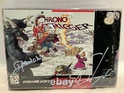 Chrono Trigger Super Nintendo SNES Signed by Hironobu Sakaguchi Nobuo Uematsu
