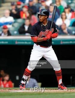 Cleveland Indians Francisco Lindor Signed 2016 Game Used UNCRACKED Marucci Bat