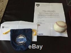 DEREK JETER Signed Game Used Baseball Steiner COA Authentic Yankees