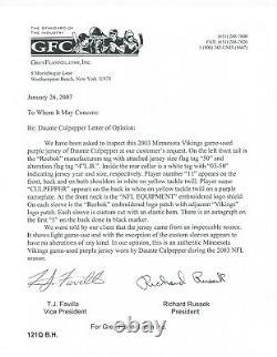 Daunte Culpepper Game Used Worn 2003 Minnesota Vikings Signed Jersey Certified