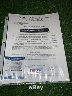 Deion Sanders Atlanta Braves Game Used Bat 1991-1994 Signed Psa GU 8