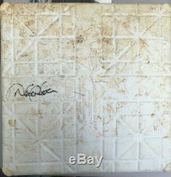 Derek Jeter signed Game Used Yankees Stadium Base autograph Steiner Authentic