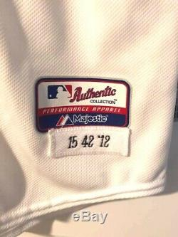 Dustin Pedroia 2012 Boston Red Sox Game Used / Team Issued Autographed Jersey