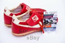 Eric Davis Game Used Signed Autographed Cleats Cincinnati Reds (1988) JSA