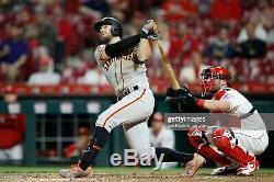 Evan Longoria San Francisco Giants Signed Uncracked Game Used Unicorn Knob Bat