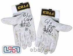 Fernando Tatis Jr. Padres Signed 2020 Game Used/Worn Batting Gloves USA SM LOA