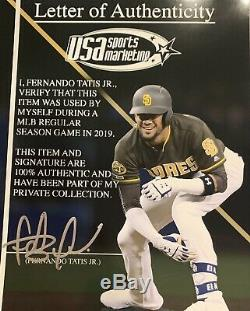 Fernando Tatis Jr. San Diego Padres Game Used Bat 2019 Signed HR # 19 PSA 10