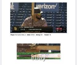 Fernando Tatis Jr. San Diego Padres Game Used Bat HR Signed Matched 2020