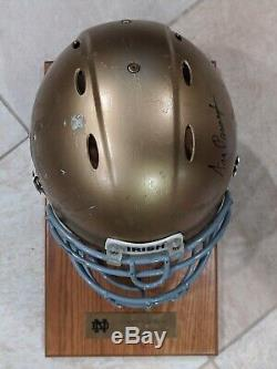 Game Used Worn Notre Dame Fighting Irish Helmet & Hand-signed By Ara Parseghian