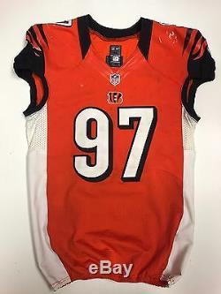 Geno Atkins Cincinnati Bengals Game Used Worn Jersey PSA / DNA Signed