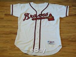 Greg Maddux 2003 Game Used Worn Signed Atlanta Braves Jersey Grey Flannel