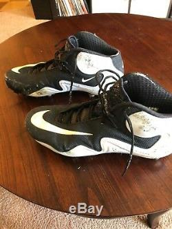 Greg Olsen Game Used Signed Cleats Panthers Bears NFL Miami Seahawks Football
