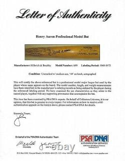 Hank Aaron Game Used Signed Autographed Auto Baseball Bat A9 PSA DNA Mears