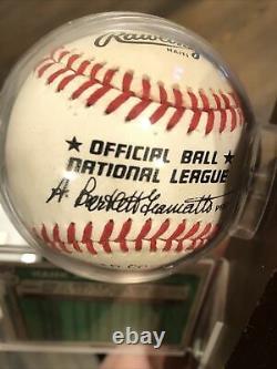Hank Aaron signed autographed baseball Game Used Ball