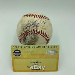 Historic David Ortiz 2004 ALDS Walk Off Home Run Signed Game Used Baseball COA