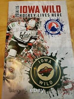 IOWA WILD GAME-WORN HOCKEY JERSEY (WORN and SIGNED by MARC HAGEL) -54-AHL