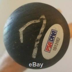 Ivan Rodriguez Pudge autographed game used bat 1998 Rangers, PSA GU 8.5 Auth'd