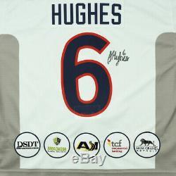Jack Hughes Game Used Worn USA Hockey Signed Jersey Devils #1 NHL Draft Rookie